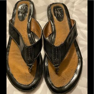 BOC Black SlipOn Sandals Size 6